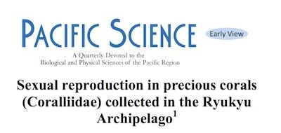 宝石サンゴの生態レポート